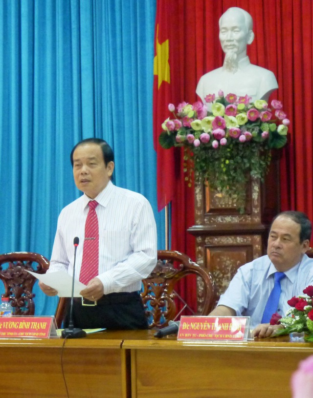 Tại buổi gặp gỡ báo chí đầu năm 2018, ông Vương Bình Thạnh đặt hàng báo chí viết về tội tham nhũng, cán bộ nhũng nhiễu doanh nghiệp.