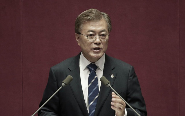 Tổng thống Hàn Quốc Moon Jae-in (Ảnh: AFP)