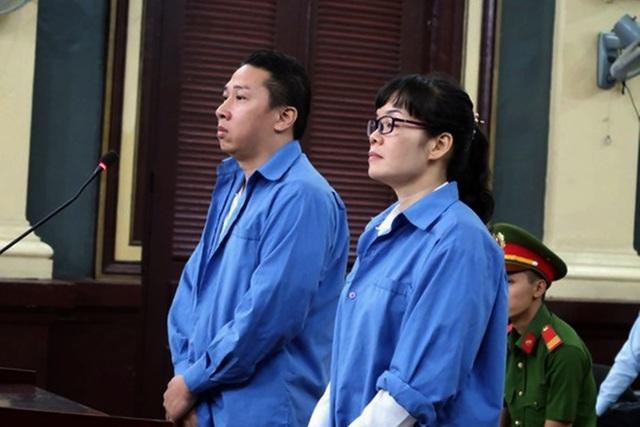 Huyền Như cùng đồng phạm tại phiên tòa sơ thẩm.