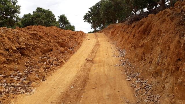 Con đường rộng lớn được mở để vận chuyển gỗ lậu dưới sông