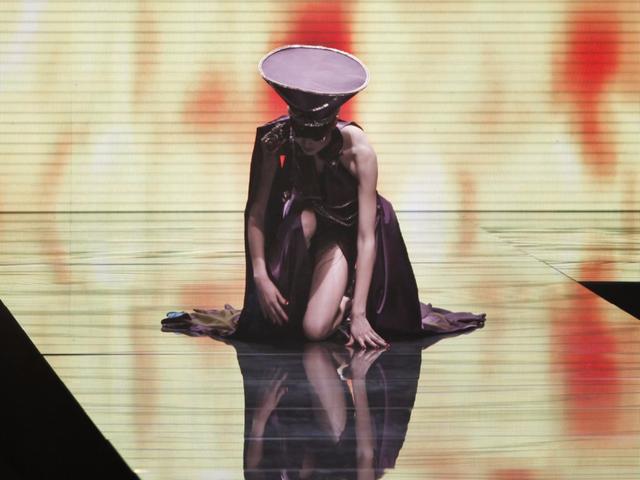 Người mẫu tại show trình diễn ở Bắc Kinh 2013.