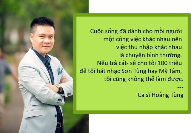 """Xem thêm: Hoàng Tùng: """"Trả cát- sê 100 triệu tôi cũng không hát nhạc Sơn Tùng"""""""
