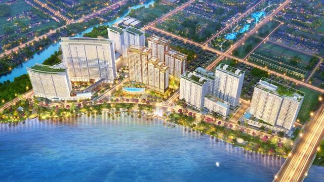 Phú Mỹ Hưng Midtown tọa lạc ngay cửa ngõ kết nối khu Thương mại Tài chính Quốc tế, khu The Crescent – Hồ Bán Nguyệt và khu Nam Viên