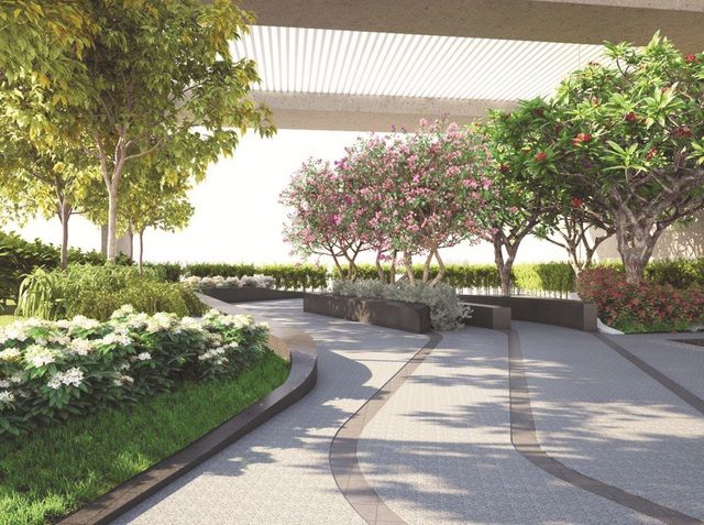 Các khu vườn trên mái là những khoảng thở, khoảng nghỉ và khoảng thư giãn tuyệt vời cho cư dân khi được hòa mình cùng thiên nhiên và ngắm cảnh sắc đô thị ở nhiều thời khắc của ngày.
