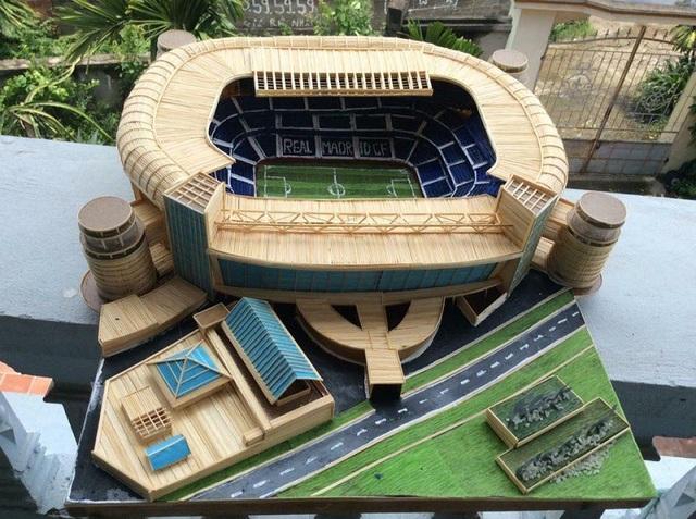 Sân vận động Santiago Bernabeu của Real Madrid.