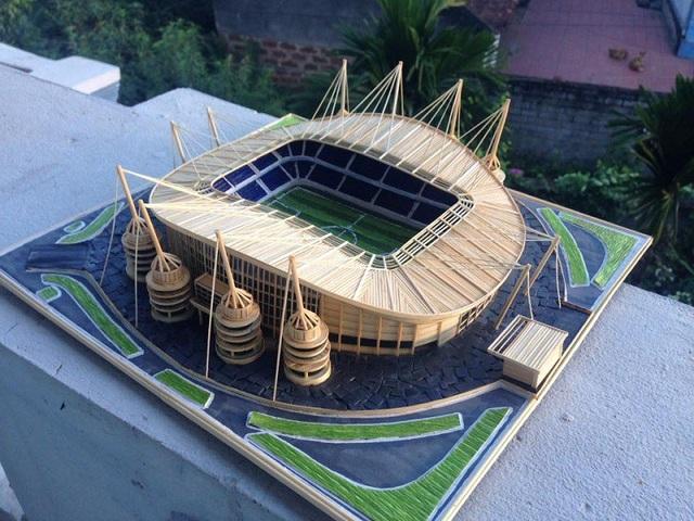9x dựng mô hình sân đấu của Real Madrid, Chelsea bằng... tăm tre - 7