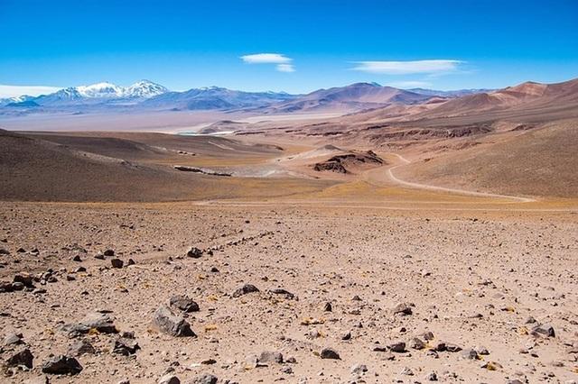 Sa mạc Atacama ở Chile.