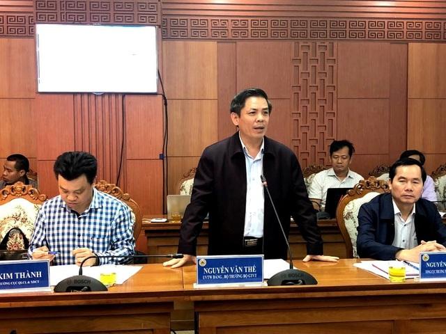 Bộ trưởng Bộ GTVT Nguyễn Văn Thể làm việc với tỉnh Quảng Nam chiều ngày 9/3