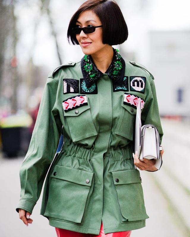 Áo kiểu nhà binh dành cho những cô nàng cá tính