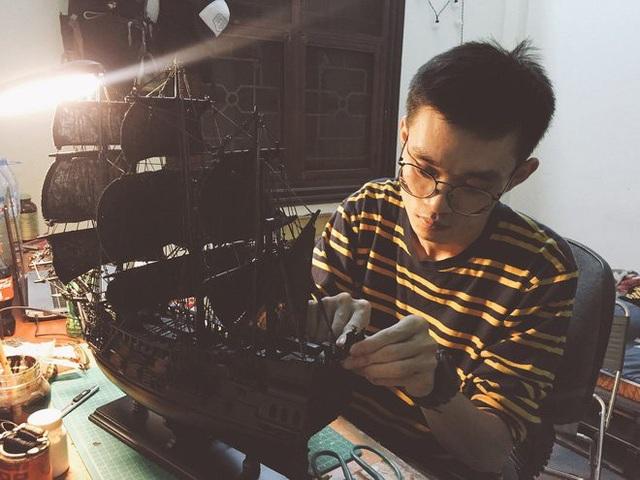 Với những tác phẩm nghệ thuật từ phế liệu, Quang Huy có thể bán với giá rất cao