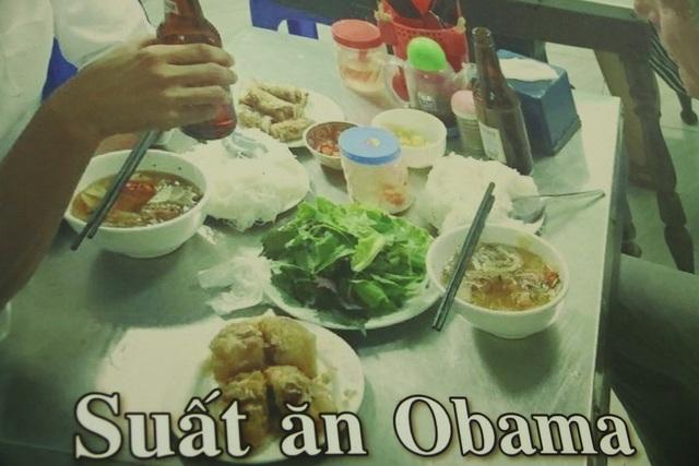 Suất bún chả cựu Tổng thống Mỹ Obama dùng bữa hồi năm 2016.