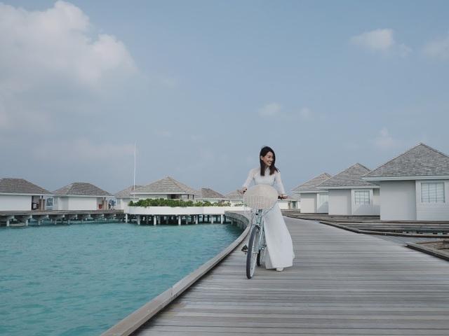 Hình ảnh vốn gắn liền với quê hương Việt Nam nay lại xuất hiện ở Maldives mang đến cảm xúc tự hào.