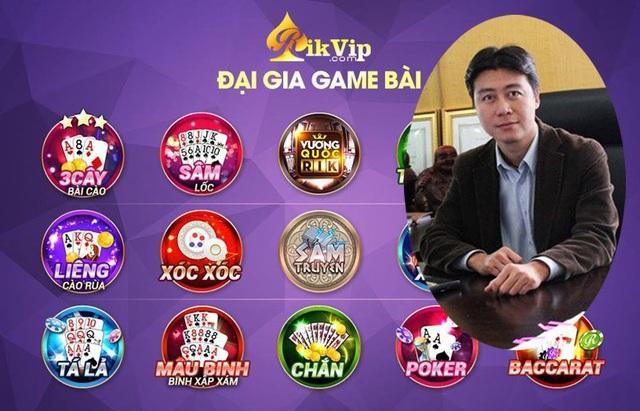 Đánh bài trực tuyến qua hình thức game bài Rikvip. Ảnh nhỏ, ông Phan Sào Nam- nguyên Chủ tịch HĐQT VTC Online (Ảnh: Trần Thanh).