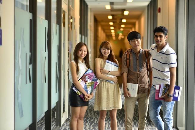 Các bạn SV Quốc tế đến từ khắp nơi trên thế giới học tập tại Kaplan Singapore