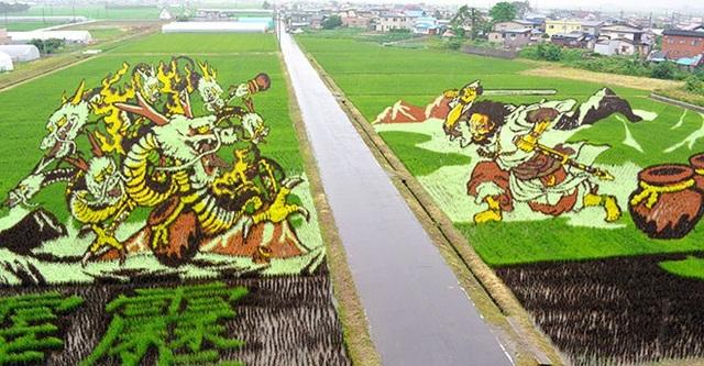 """Ngôi làng nghèo """"lột xác"""" nhờ sức hút của những bức tranh lúa - 4"""