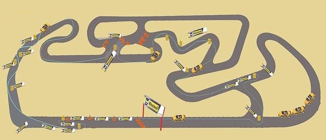Thiết kế đường đua của Rheinol Racing Days tại trường đua Đại Nam dành cho tất cả các loại xe
