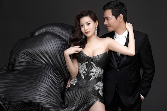 Trong bộ ảnh mới lần đầu tiên kết hợp, hoa hậu áo dài Hải Dương khoe vẻ gợi cảm bên cạnh MC Phan Anh.