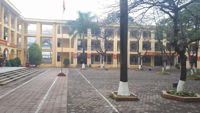 Trường THCS An Khánh vào sáng 13/3, học sinh toàn trường đã đi học bình thường. (ảnh: N. Cường)