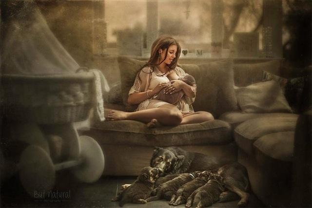 Mê mẩn với bộ ảnh mẹ cho con bú của nhiếp ảnh gia Ấn Độ - 6