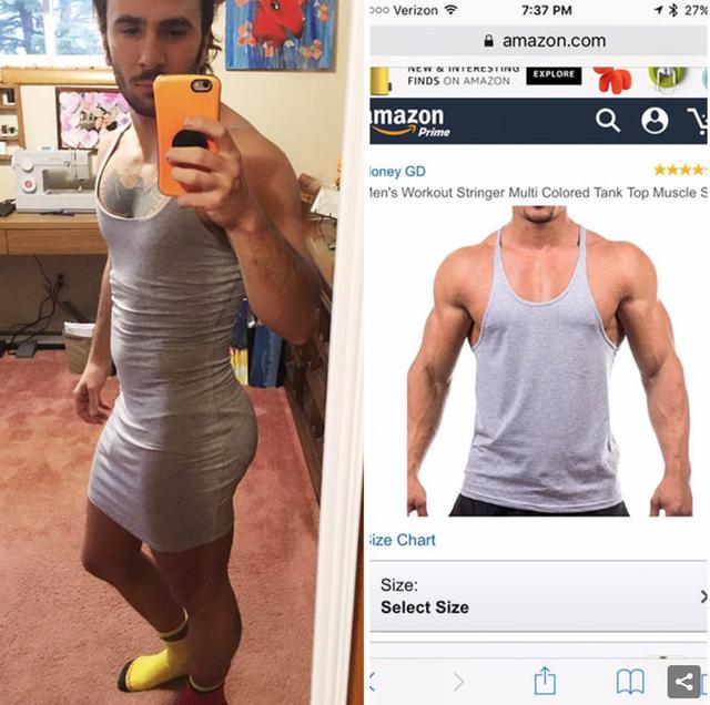 Chiếc áo tập nam tính bằng một cách nào đó đã biến thành chiếc ... váy.