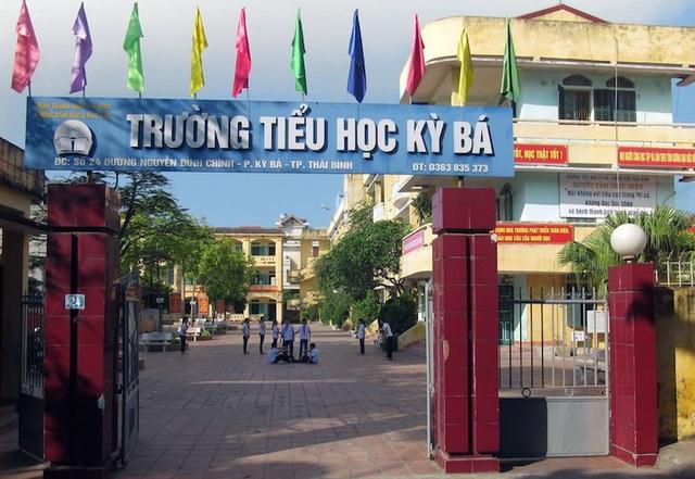 Trường tiểu học Kỳ Bá, thành phố Thái Bình (ảnh: Facebook nhà trường)