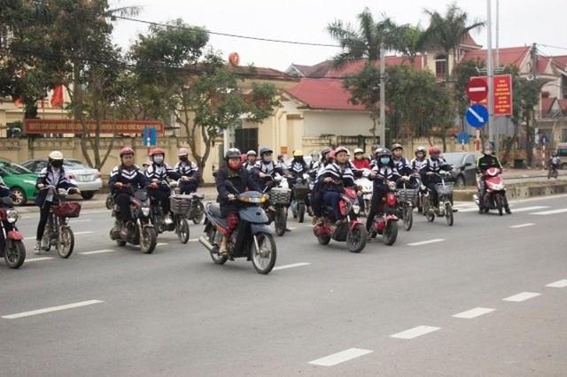 Hầu hết các em đều chấp hành tốt luật giao thông