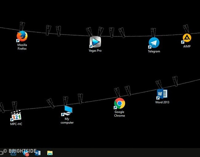 Chỉ là treo các biểu tượng lên trên màn hình máy tính thôi mà!