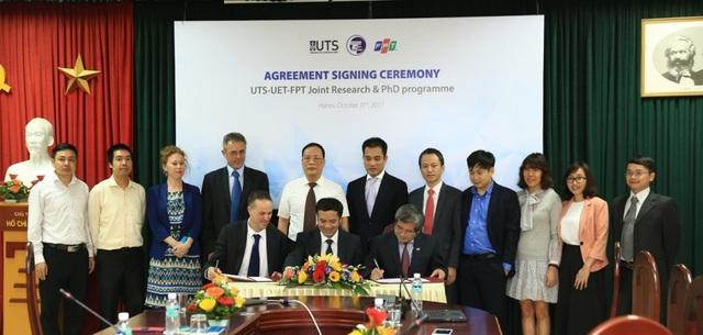Lễ ký kết thỏa thuận hợp tác về đào tạo tiến sĩ với Đại học Công nghệ Sydney và Công ty cổ phần công nghệ FPT