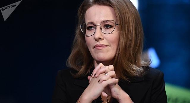Nữ ứng viên tổng thống duy nhất của Nga Kseniya Sobchak (Ảnh: Sputnik)