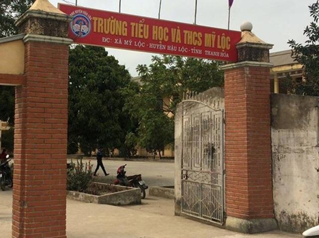 Trường Tiểu học và Trung học cơ sở Mỹ Lộc, nơi xảy ra sự việc