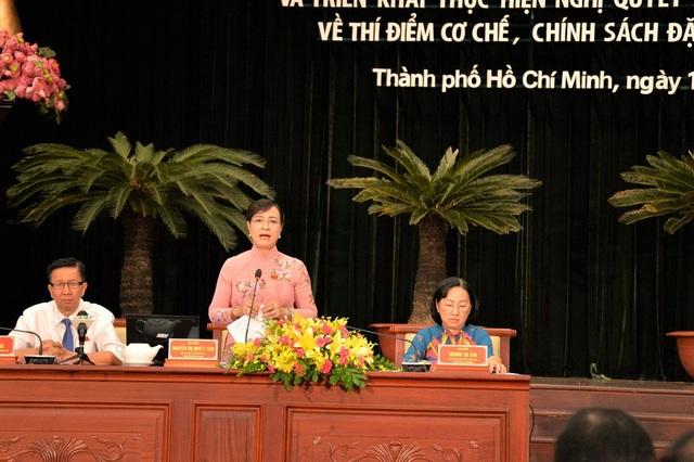 Chủ tịch HĐND TPHCM Nguyễn Thị Quyết Tâm phát biểu bế mạc kỳ họp