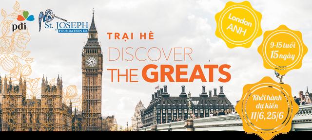 Trại hè Discover the Greats tại London, Vương quốc Anh.