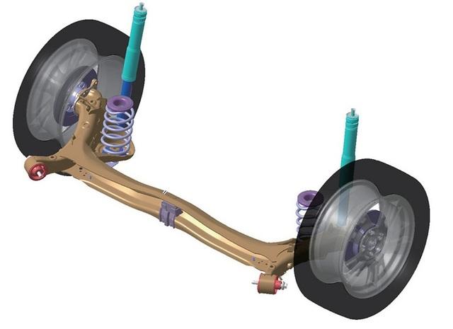 Mô tả hệ thống giảm xóc sau trên Toyota Corolla Altis
