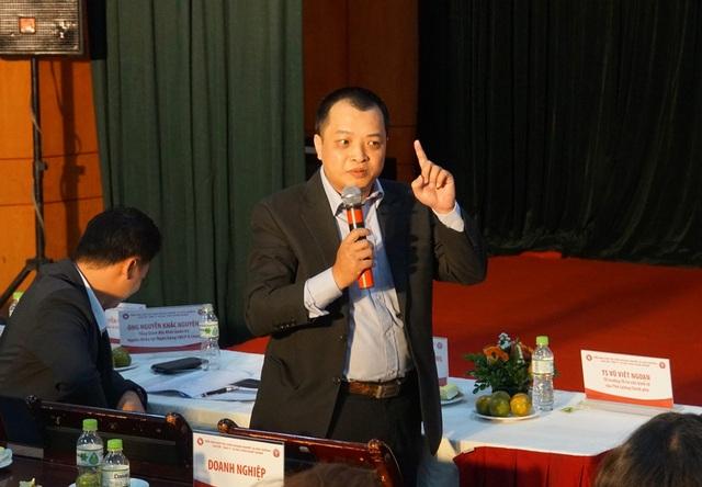Ông Lê Nguyễn Trường Giang - diễn giả khối doanh nghiệp phát biểu.