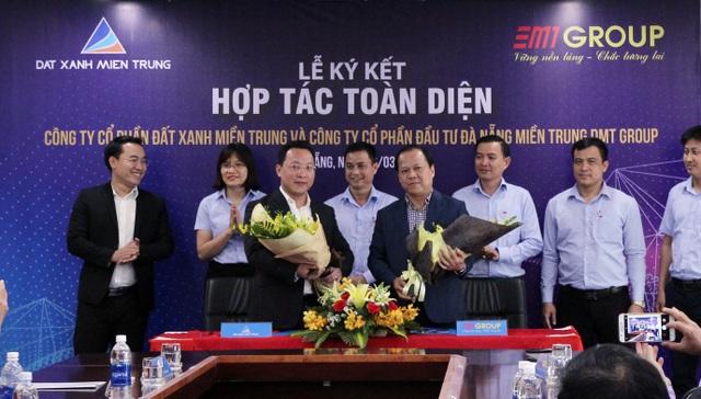 Đất Xanh Miền Trung và DMT Group hoàn thành kí kết hợp tác toàn diện.
