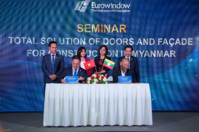 Eurowindow đã ký kết hợp đồng đầu tiên với Công ty HTE Integrated (Myanmar)