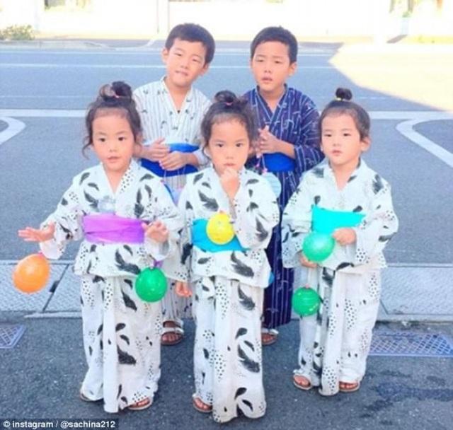 Bộ ảnh dễ thương của bà mẹ 5 con hot nhất Nhật Bản - 3