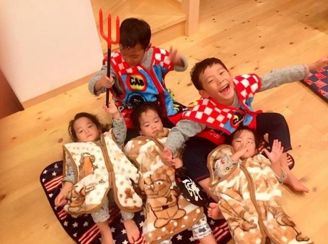 Bộ ảnh dễ thương của bà mẹ 5 con hot nhất Nhật Bản - 4