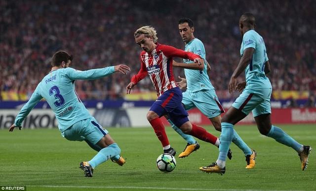 Griezmann tỏa sáng khi ghi đến 7 bàn thắng trong hai trận gần đây nhất tại La Liga