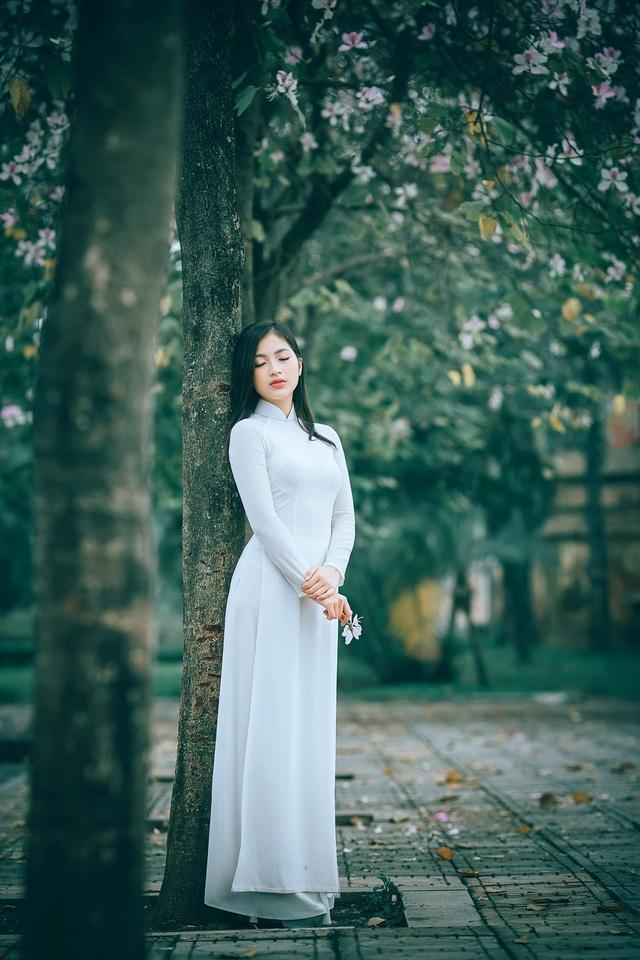 Nữ sinh Hà thành ngọt ngào bên sắc hoa ban - 14