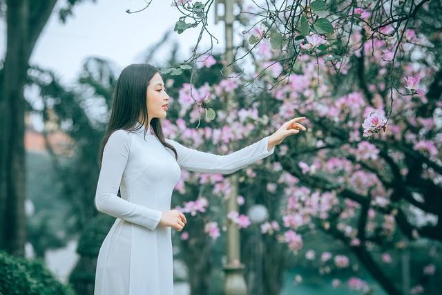 Nữ sinh Hà thành ngọt ngào bên sắc hoa ban - 4