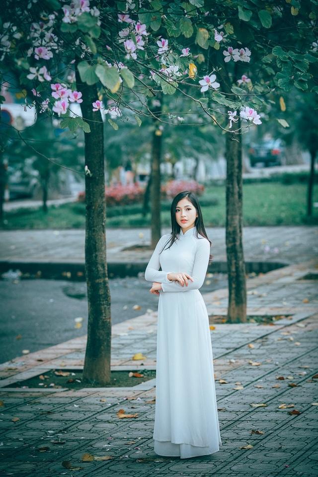 Nữ sinh Hà thành ngọt ngào bên sắc hoa ban - 11