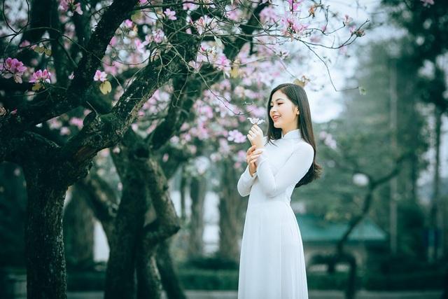 Nữ sinh Hà thành ngọt ngào bên sắc hoa ban - 9