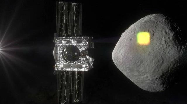 Mô phỏng hình ảnh tàu vũ trụ Hammer ngăn chặn tiểu hành tinh. (Nguồn: Indian Express)