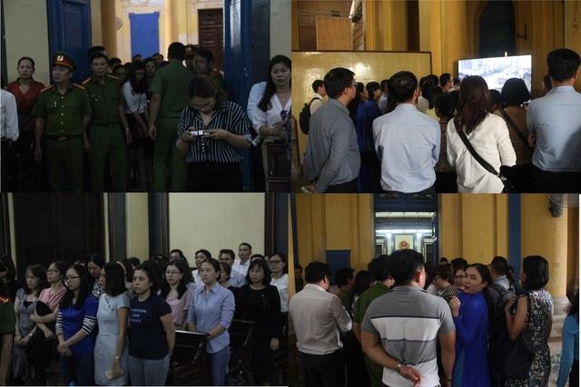 Rất đông đồng nghiệp, người thân của các bị cáo tới tòa