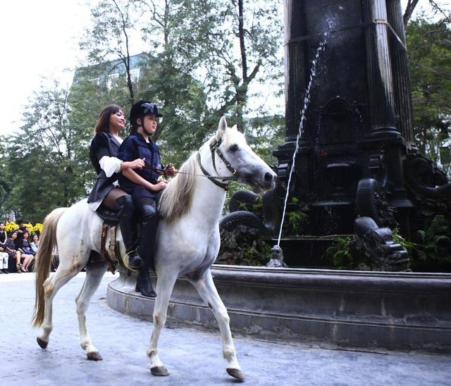 Sự xuất hiện của chú ngựa trắng và diễn viên từ Liên đoàn xiếc, tiếp đó là một người mẫu nhỏ tuổi đã khuấy động không gian vườn hoa con cóc.