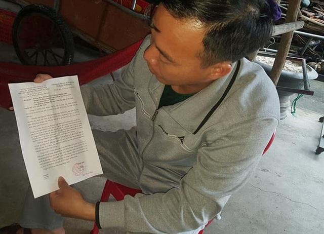 Người nhà anh Chung cho biết những thông báo về việc thuyền viên này gặp nạn ở Hàn Quốc.