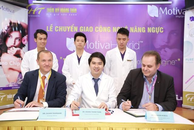 Bác sĩ Hoàng Thanh Tuấn tại lễ chuyển giao công nghệ làm đẹp