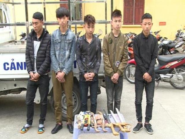 Nhóm đạo chích chuyên trộm cắp hòm công đức trên địa bàn huyện Quỳnh Phụ (ảnh: Công an Thái Bình)