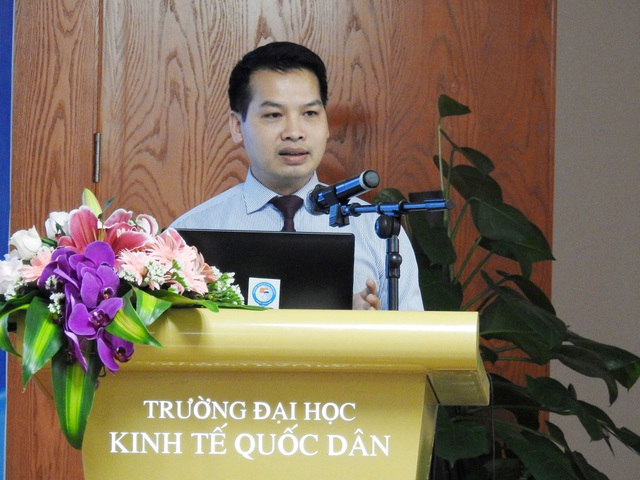 TS Đàm Sơn Toại - Phó Giám đốc Trung tâm đào tạo tiên tiến, chất lượng cao và POHE (Trường ĐHKT Quốc dân). (Ảnh: Hiệp Cường)
